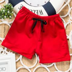 Children's shorts summer wear childrens wear babyboy girl pants five-cent pants hot pants beachpants red 80cm