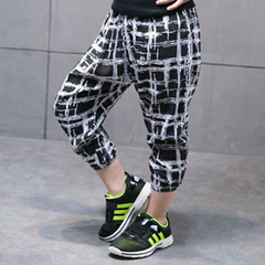 Boy's summer cotton and silk harem pants boy's ultra-thin baby's loose girl's wide-leg trousers 1 80cm