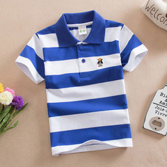 Children's wear boy's short sleeve T shirt pure cotton round collar baby half sleeve polo shirt 1 90cm cotton