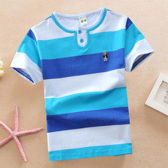 Boys' polo shirts summer shirts children's short sleeve lapel Tshirts children's half-sleeve Tshirt 1 90cm cotton
