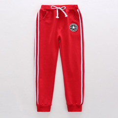 Boys' trousers spring sports pants children's leisure pants spring autumn in the boys trousers boys red-1 100cm