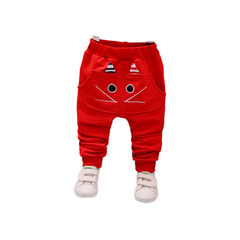 Boys' trousers single trousers children's sports trousers baby casual trousers spring autumn style red-1 70cm
