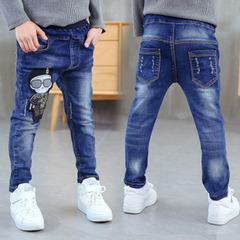 Boys' jeans children's trousers spring wear boys' trousers single trousers small leg trousers 1 100cm