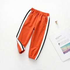 Boys' shorts summer wear 2019 summer wear boys' summer sports trousers thin boys' trousers orange 90cm