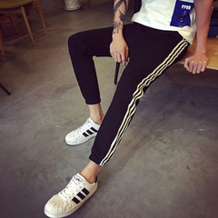 junior high school students casual sports pants nine points trousers teenage boys trousers 1 S/35-42KG