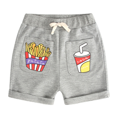 Children's wear boys' shorts new children's wear children's baby cartoon chips knit shorts slacks gray--1 80cm