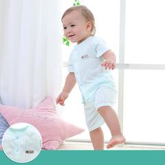 Children's short-sleeved suit summer boys' half-sleeved suit pure cotton dress girl's shorts Tshirt 1 60cm