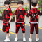 Children's wear boys summer wear cuhk children camouflage suit summer Korean version short sleeve red 110cm cotton