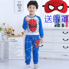 spiderman children's short sleeved boy's cartoon suit ultraman superman long sleeved T-shirt fashion 1 110cm cotton