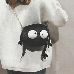 2019 new cute small bag girls single shoulder crossbody bag cute cartoon department plush small bag