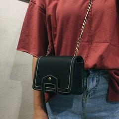 Girls' bag girls' summer 2018 new trendy Korean version crossarm mini one-shoulder chain bag black 18cm*13cm*7cm