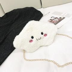 creative cloud bag soft sister crossbody bag fashion cartoon version 2019 new bag girls small bag white-1 27cm*18cm*3cm