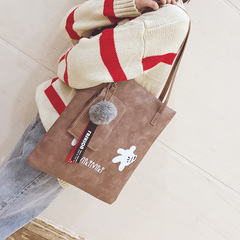 female bag tote bag match big bag style shoulder bag girl hand bill lading shoulder bag shopping bag pink 35cm*30cm*3cm