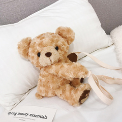Fairy born cute funny stuffed bear bag female 2019 new version of dolls crossbody bag cartoon big teddy bear