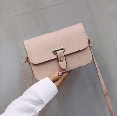 Women's small bag version all-in-one shoulder bag cross-body bag bag retro casual small square bag pink 20cm*13cm*7cm