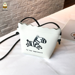 Women bag fashion all-purpose small bag little girls cute cartoon single-shoulder bag cross-body bag white 17cm*16cm*6cm