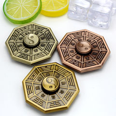 The finger gyro Tai Chi Bagua inception EDC adult toy hand spiral metal gift decompression Gold copper color 1pcs