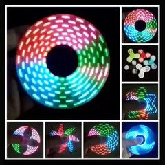 With 18 lights, LED plastic UV plating, luminous crystal, children rotating fingertip gyroscop Golden 1pcs