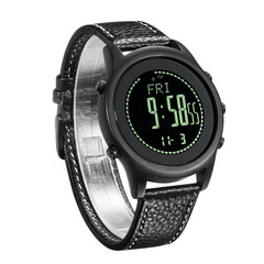 SPOVAN Beyond-6 Carbon Fiber Sport Watch Ultra Thin Air/Altitude/Temperature  Measure  Compass black+black normal