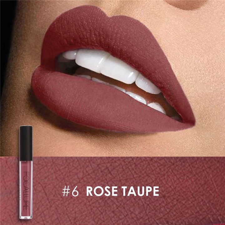 FOCALLURE Waterproof Matte Liquid Lipstick Moisturizer Long Lasting Cosmetic Beauty Makeup #6