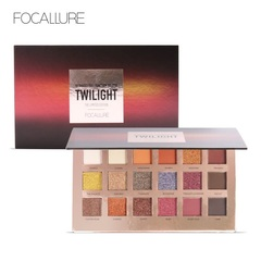 FOCALLURE Fashion Twilight 18 Colors Glitter Matallic Eyeshadow Palette Matte Shimmer  Makeup Set as picture