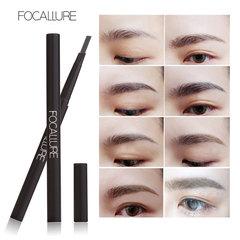 New Arrival FOCALLURE Waterproof 3 Colors Eyebrow Pen Pencil with Brush Makeup Cosmetics Tools #1