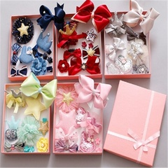 2019 New 10pcs Fashion Accessories Of Girl's Hairpins Cute Boutique Hair Headband Barrettes Gift Box red