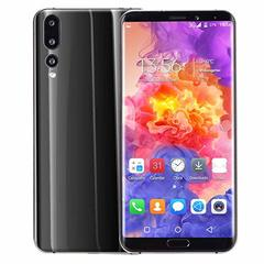 Eight core 6.1 inch dual HD camera smart phone fast charger Android 8GB dual card mobile phone black