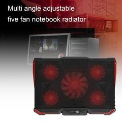 Maikou wheat hot sale multi-angle adjustment five fan notebook cooler red A04060000330602