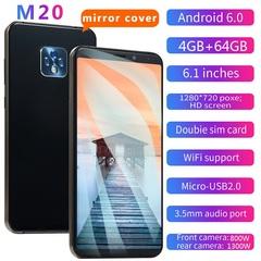 New mobile phone M20 6.1 inch 4GB + 64GB full screen 8MP + 13MP smart phone black