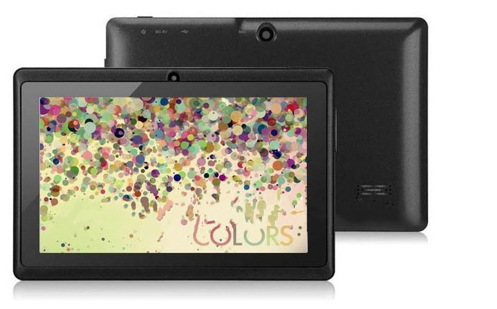 Quad-core 7-inch tablet PC Pc A33 Q88 III 6-color Android 4.4 RAM 512M ROM 4GB black m890bcp