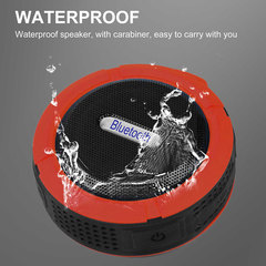 Outdoor Wireless Bluetooth Speaker Waterproof Mini Portable Speaker Red red