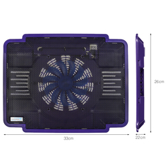 Cool Cold Newly Laptop Cooling Pad Laptop Fan Cooler Fit for 9-15.5inches Laptop Purple purple A04060000057501