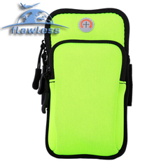 Mobile phone arm bag outdoor sports men and women arm waterproof night running bag running bag green 4-6inch