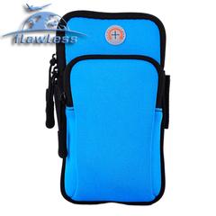 Mobile phone arm bag outdoor sports men and women arm waterproof night running bag running bag blue 4-6inch