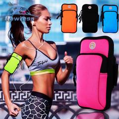 Mobile phone arm bag outdoor sports men and women arm waterproof night running bag running bag rose 4-6inch