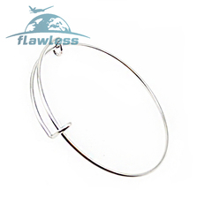 Popular push-pull bracelet diy telescopic bracelet can be adjusted alex wire hand loop silver 6.5cm