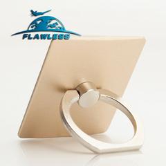 Mobile phone ring bracket square metal lazy ring buckle 360% rotating mobile phone bracket gold One size