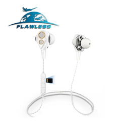 Four speakers 6D surround wireless Bluetooth headset 4.1 plug-in stereo music headset white #