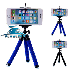 Sponge Octopus Mobile Tripod Mini Micro Single Card Camera Desktop Mobile Video Stand Blue 175MM
