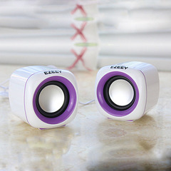 Mini multimedia audio desktop mobile phone laptop USB desktop subwoofer gift speaker black purple mini