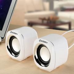Mini multimedia audio desktop mobile phone laptop USB desktop subwoofer gift speaker white mini