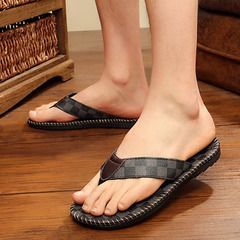 New slippers fashion casual sandals tide men word tow beach shoes open toe sandals and  shoes gray 40