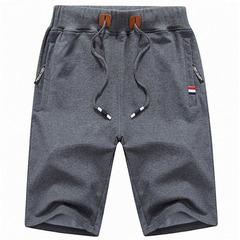 New men sports shorts drawstring jogging pants shorts sports casual pants trousers dark grey 3XL