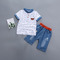 New Boys Baby Cotton Casual Short Sleeve Pants Set white 90