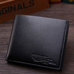 New business men's short wallet wallet ticket holder black onesize