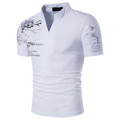 New  men T Shirt Short Sleeve T-shirt Men Polo Sports T-shirt Summer Polo Shirts white l cotton