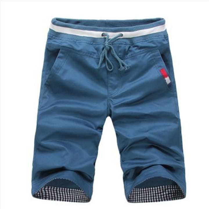 New men's fashion men's shorts casual cotton slim beach shorts sweatpants trousers dark blue 3xl