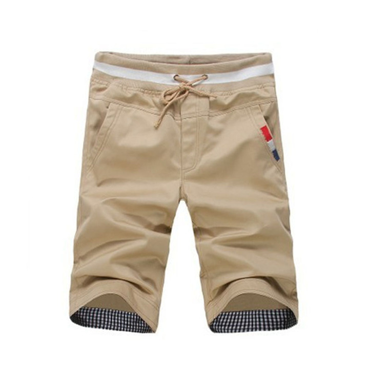 New men's fashion men's shorts casual cotton slim beach shorts sweatpants trousers pants light brown 2xl