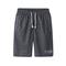 New men's shorts elastic waist beach shorts casual soft running shorts dark gray l